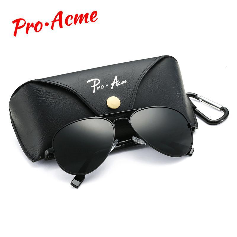 Pro Acme Klassische polarisierten Sonnenbrillen für Männer Frauen Metall Pilot Sonnenbrillen Driving Brillen 58mm Uv400 mit Fall Pa1095