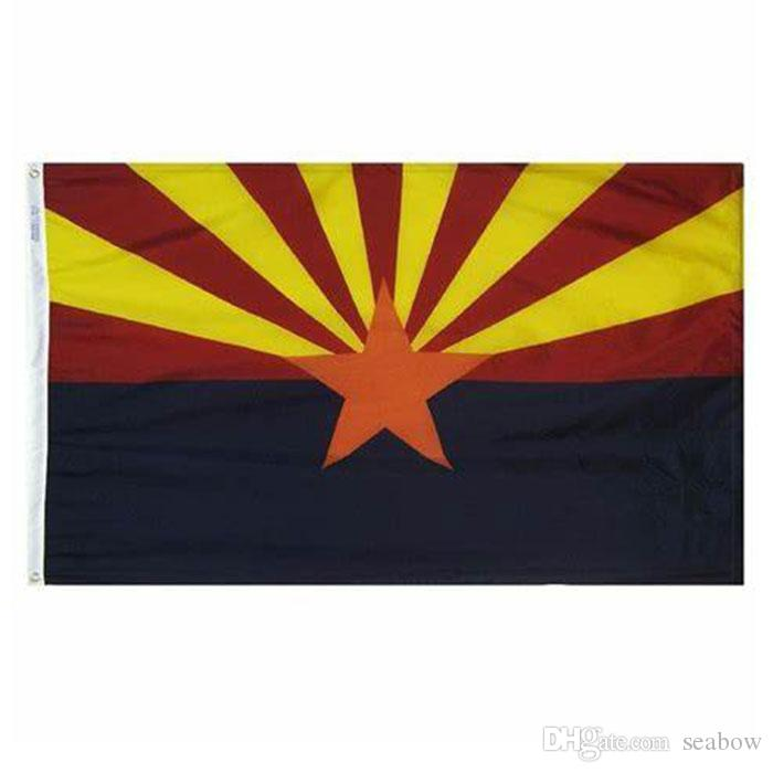 Arizona-Flagge Staat USA Banner 3x5 FT 90x150cm Festival-Party-Geschenk-Sport-100D Polyester Indoor Outdoor Printed Heißer Verkauf