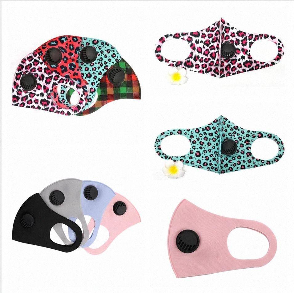 Máscaras 2styles Leopard Soild Cor PM2.5 cara com a respiração Válvula Lavável Dustproof ajustável respirável algodão cobrir a boca LJJP251 5279 #
