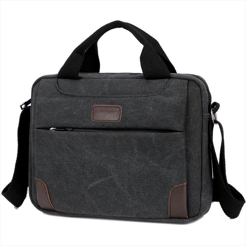 New Mens Handbag simples do negócio ombro Messenger Bag Casual Vintage Canvas Pasta transporte da gota Boa Qualidade