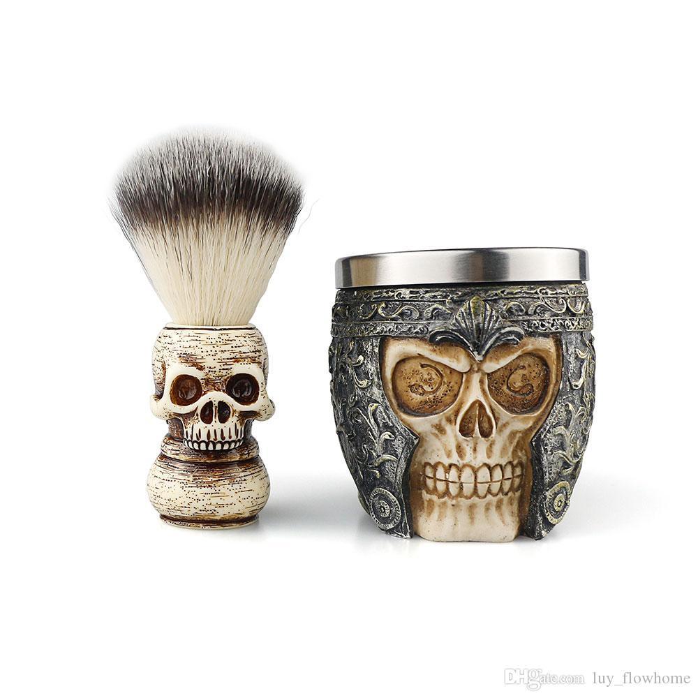 الحلاق متجر الشعر قطع أدوات التنظيف الرجال الوجه الصابون صابون لحية فرشاة أدوات الحلاقة رغوة الصابون وعاء اللحية فرشاة مجموعة