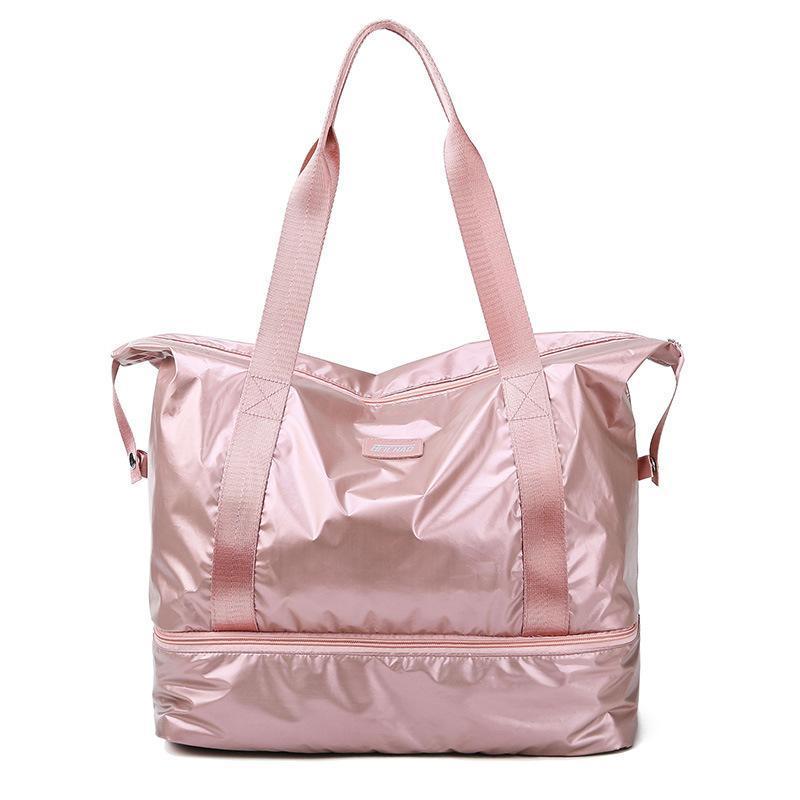 Borsa da viaggio portando grandi borse da donna escursioni per esterni bagaglio a secco e separazione bagnata borse fitness