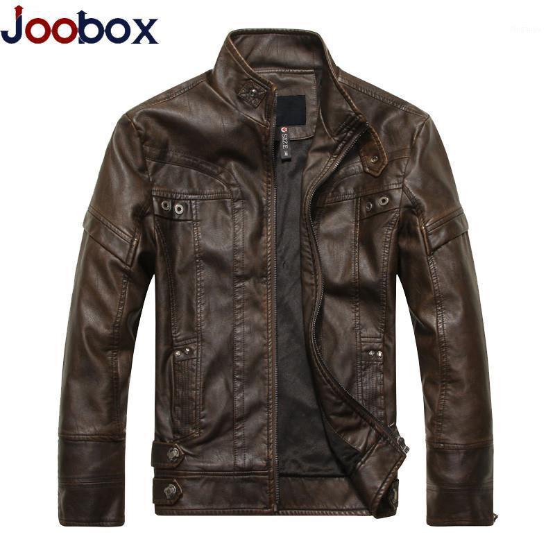 Мужской меховой FUX BRAND 2021 Прибытие Мотоцикл Кожаная Куртка Мужчины Весна и Осень Мужские Куртки Пальто Jaqueta de Couro Masculina1