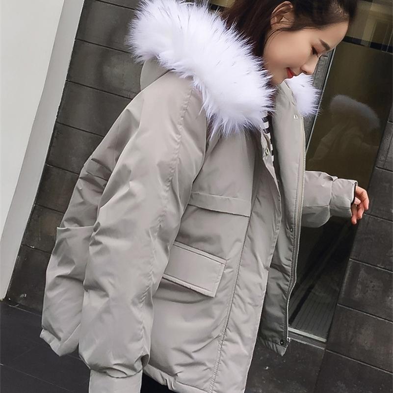 Хлопок мягкая куртка женская зимняя куртка короткая зимняя одежда новая корейская версия свободный маленький хлопчатобумажный хлеб студент 201208