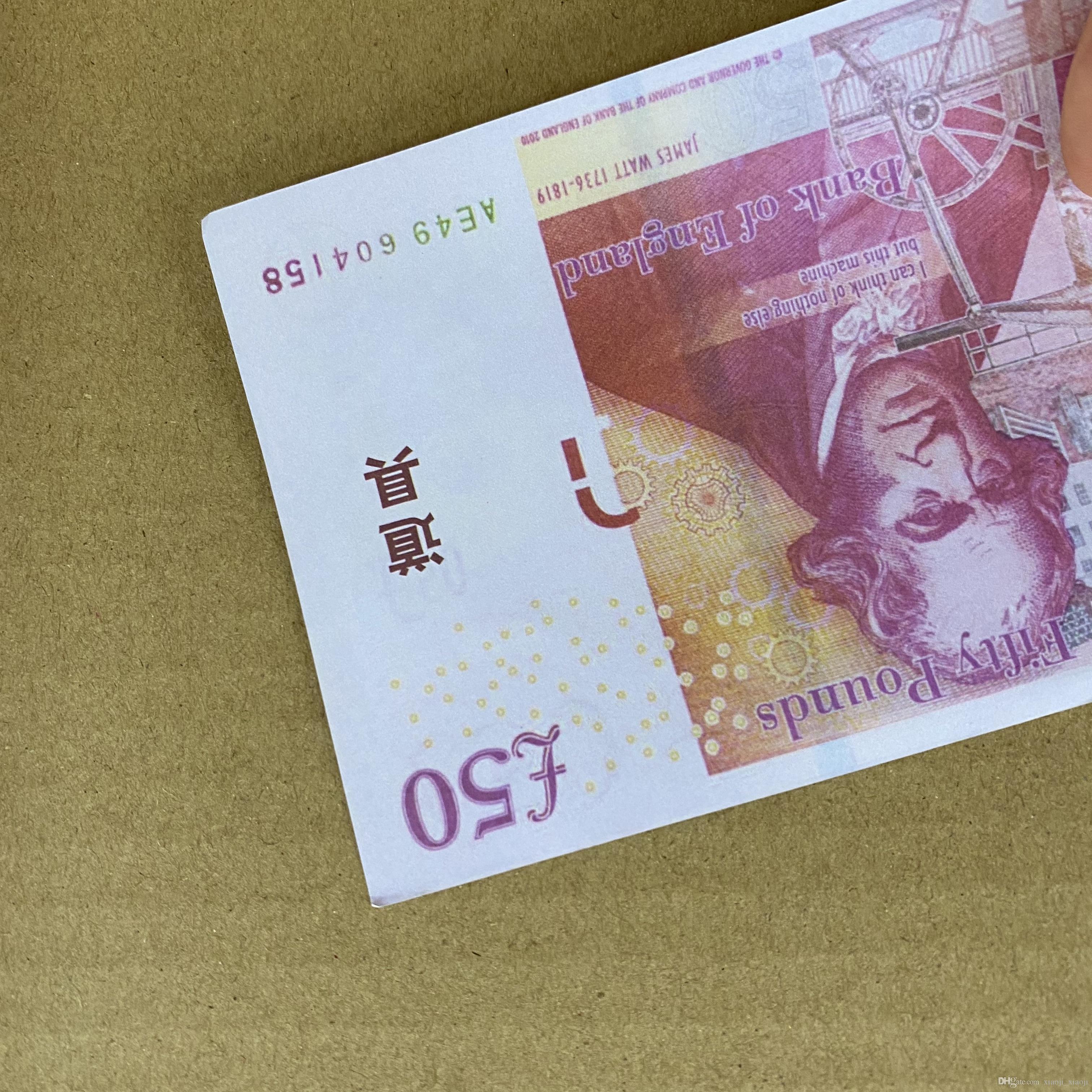 100 шт. / Пакет копии или банкнота Семейная игра Реалистичные деньги деньги / евро / доллар PROP Большинство детей Paper Toy283 Rwwbd