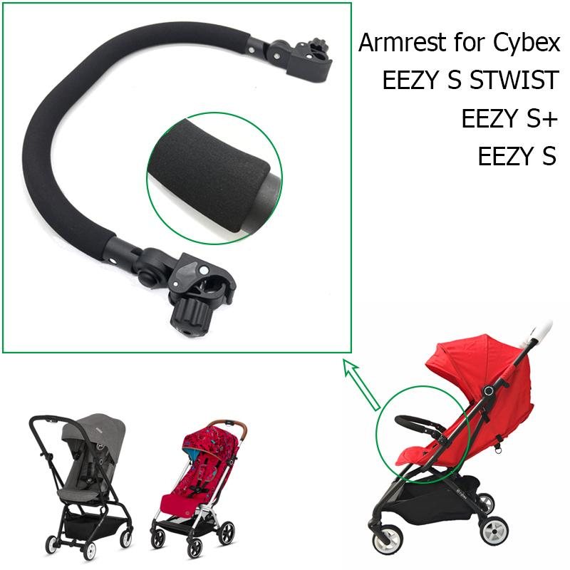 Kinderwagen-Zubehör PU-Leder Mittelarmlehne vorne Stoßstange vorne Schutzgeländer für CYBEX EEZY S S + S TWIST Kinderwagen Design-201013