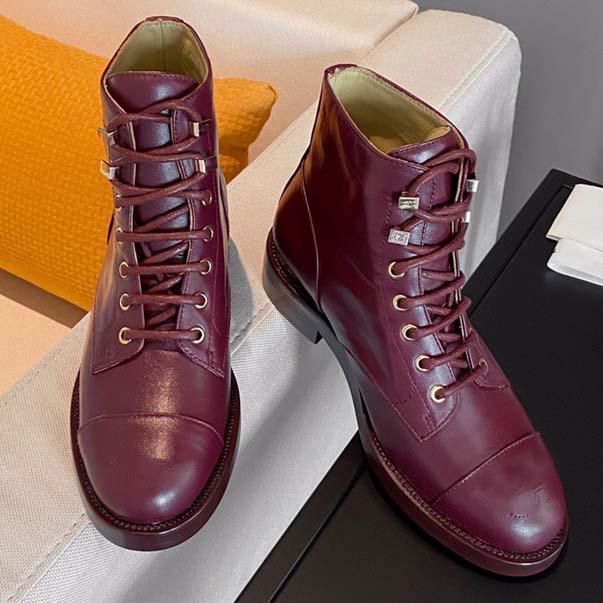 Progettista di lusso di nuova qualità superior Stivali corti da donna in fondo a Martin Boots Moda Scarpe casual scarpe da lavoro Stivali da lavoro 35-41 con scatola