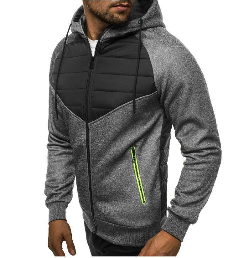 moda novo lazer 2021 casaco acolchoado cor combinando algodão cardigan camisola masculina
