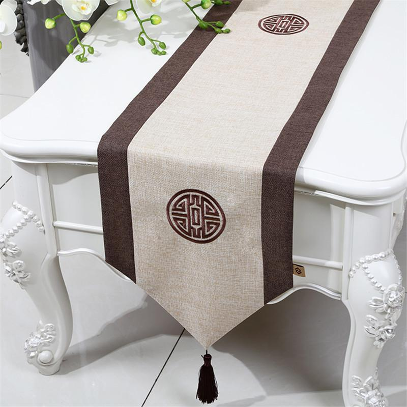 Proud Rose Linen Table Runner Decorative Tablecloth Chinese Style Rectangle Table Flag Fashion Household Table Mat Customed C0125