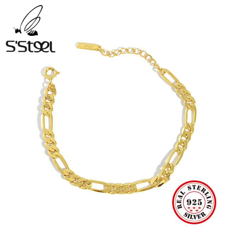 S'STEEL 925 Sterling Silver Bracelets For Women Pulcera De Plata 925 Mujer Elegantes Bijoux Femme 2019 Srebro Fine Jewelry Q1118