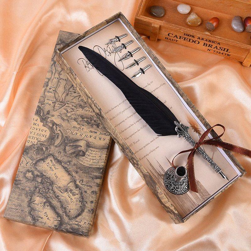 Nuovo mestiere creativo firma personalizzata penna personalizzata penna retrò penna europea il cofanetto regalo fdc8 #