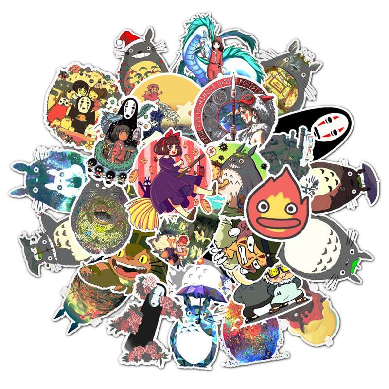 Последняя версия 50 Hayao Miyazaki Anime Наклейки Желание взрыва Граффити Наклейки Тележка Чемодан Гитара Наклейки
