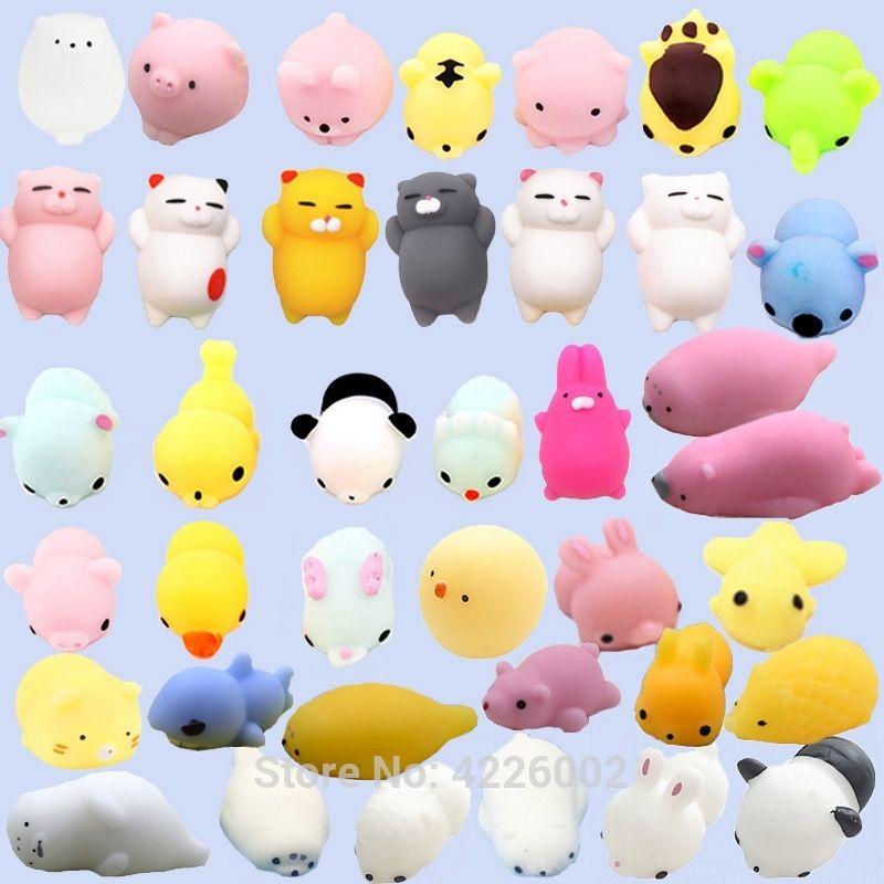 30pcs Squishy Esprema Mochi Gato Squichy Antistress Squishes Divertido Squishies Kawaii Animais Definir Anti Stress Brinquedos Engraçados Para Crianças Y200428