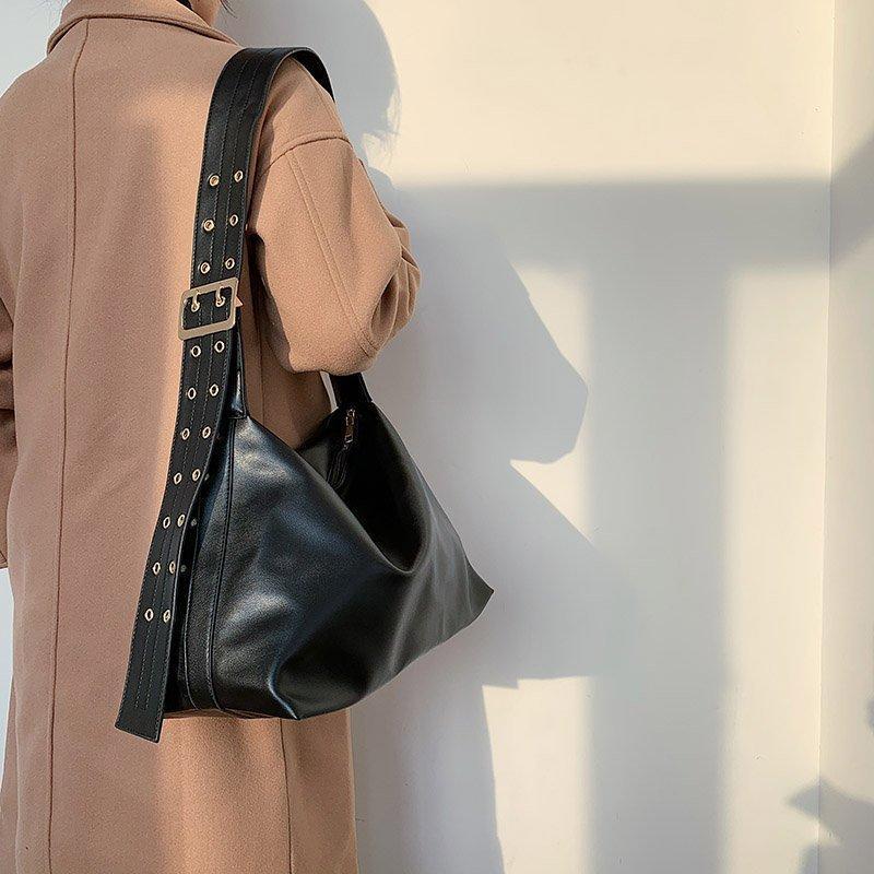 Luxus Neue Taschen Designer Sack große Crossbody Handtaschen Frauen Mädchen Schwarz Solide Messenger Bag Leder Schulter für Hjrvu