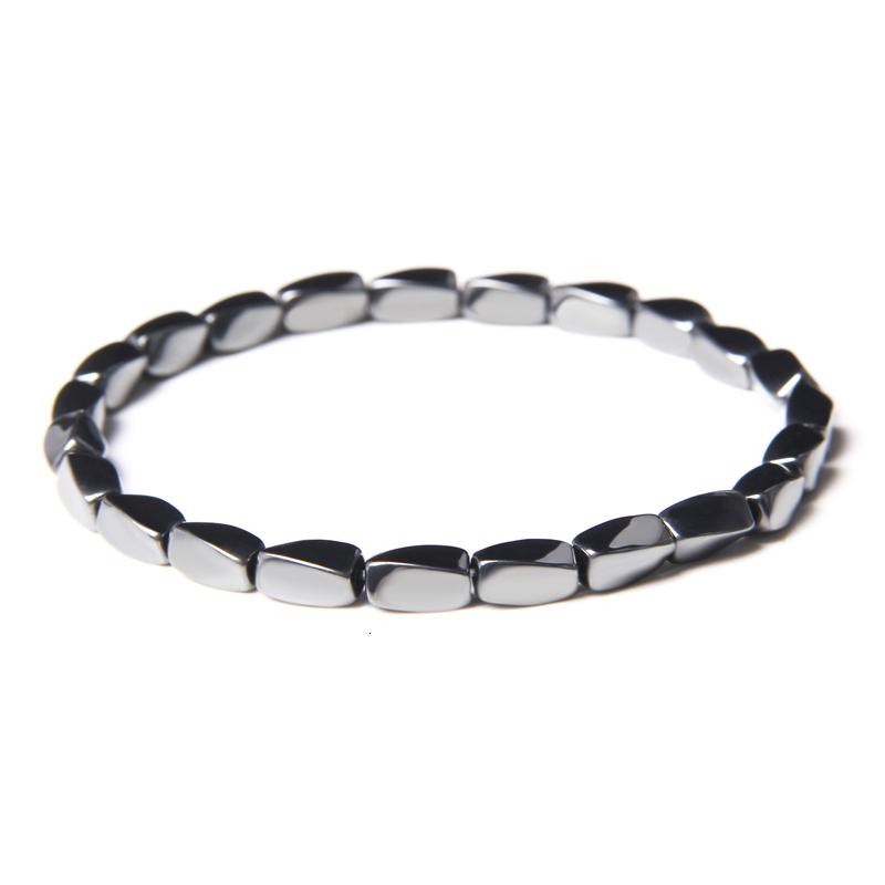 Men's 4 * 8mm irregular shaped Hematite Bracelet female Bracelet Black Hematite pearl