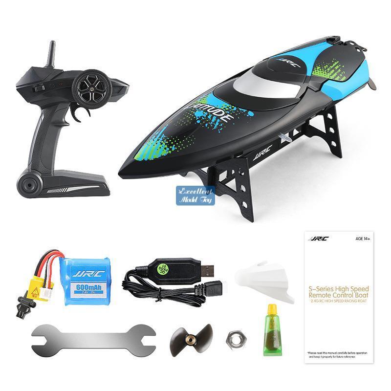 JJRC S3 2.4G Fernbedienung Speedboat Spielzeug, Highgeschwindigkeit 25km / h, Capsize Recovery, Niedrige Energieerinnerung, Weihnachtskinder-Geburtstagsjungen-Geschenk, verwenden