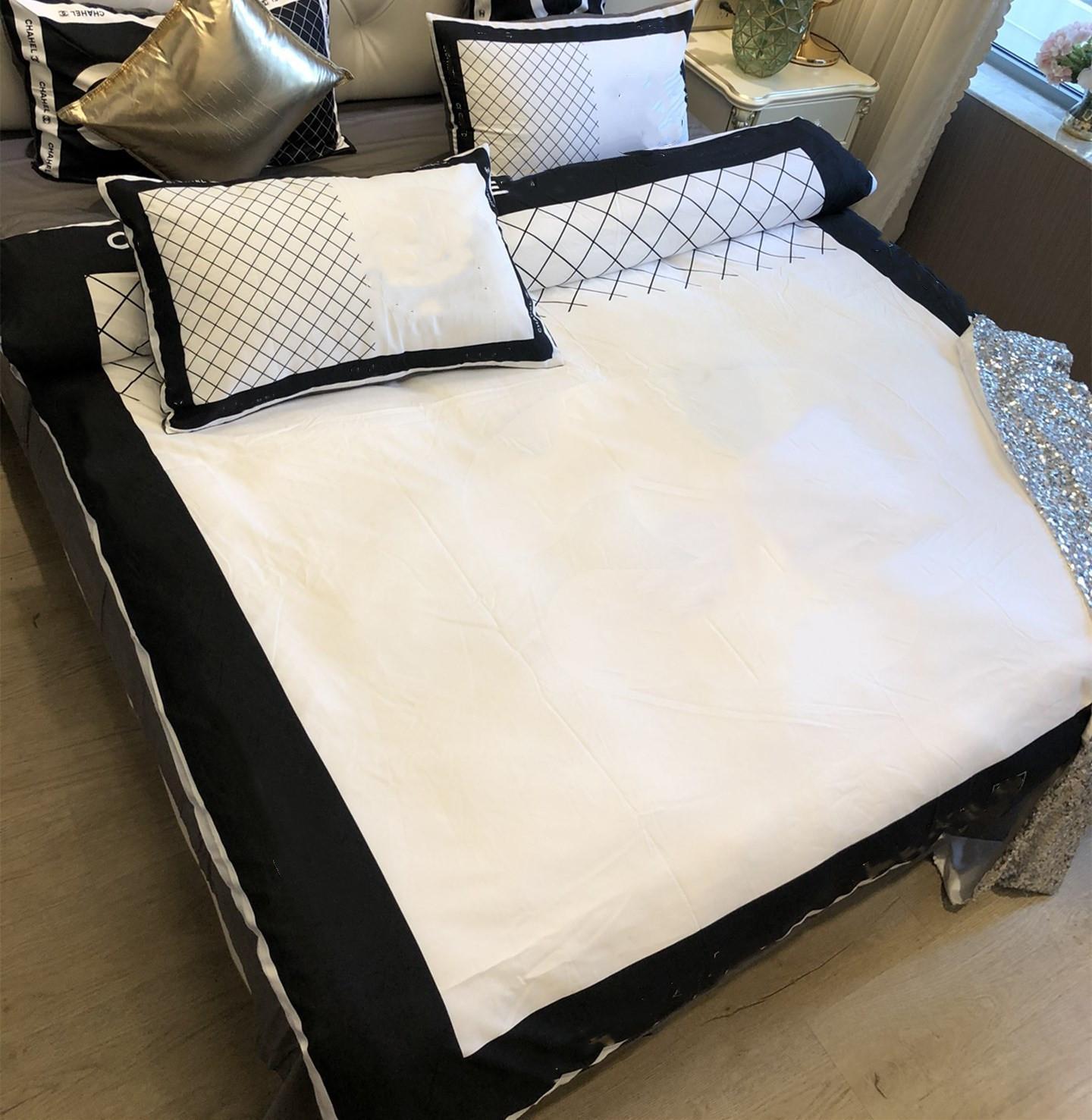Conjuntos de cama tecidos de algodão queen size acolchoado 2 travesseiro casos cama de cama duvet cover