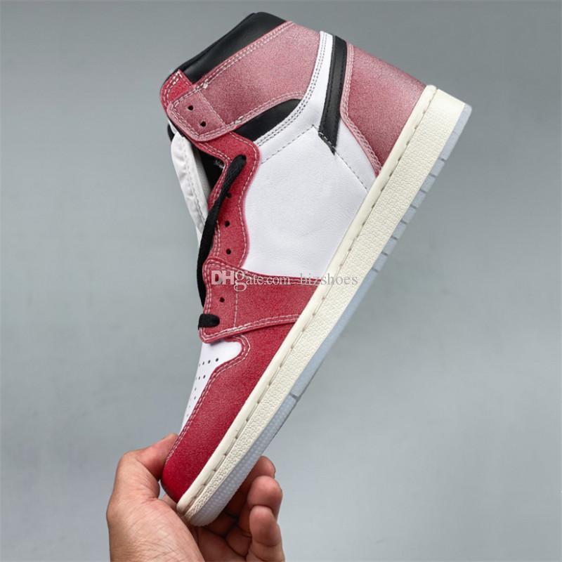 Новый выпуск 1S Chicago Top 3 2.0 Кроссовки Спорт Белый Красный Черный Трофейный Номер Обувь Унисекс Limited 1 Высокий Скейт Повседневная Обувь