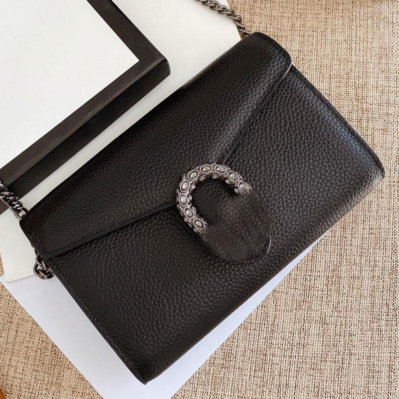 Bolsa de solapa clásica Classic High Cross Bags Bag negro Crossbody Women Calidad Hombro Moda Cuerpo DsbBw