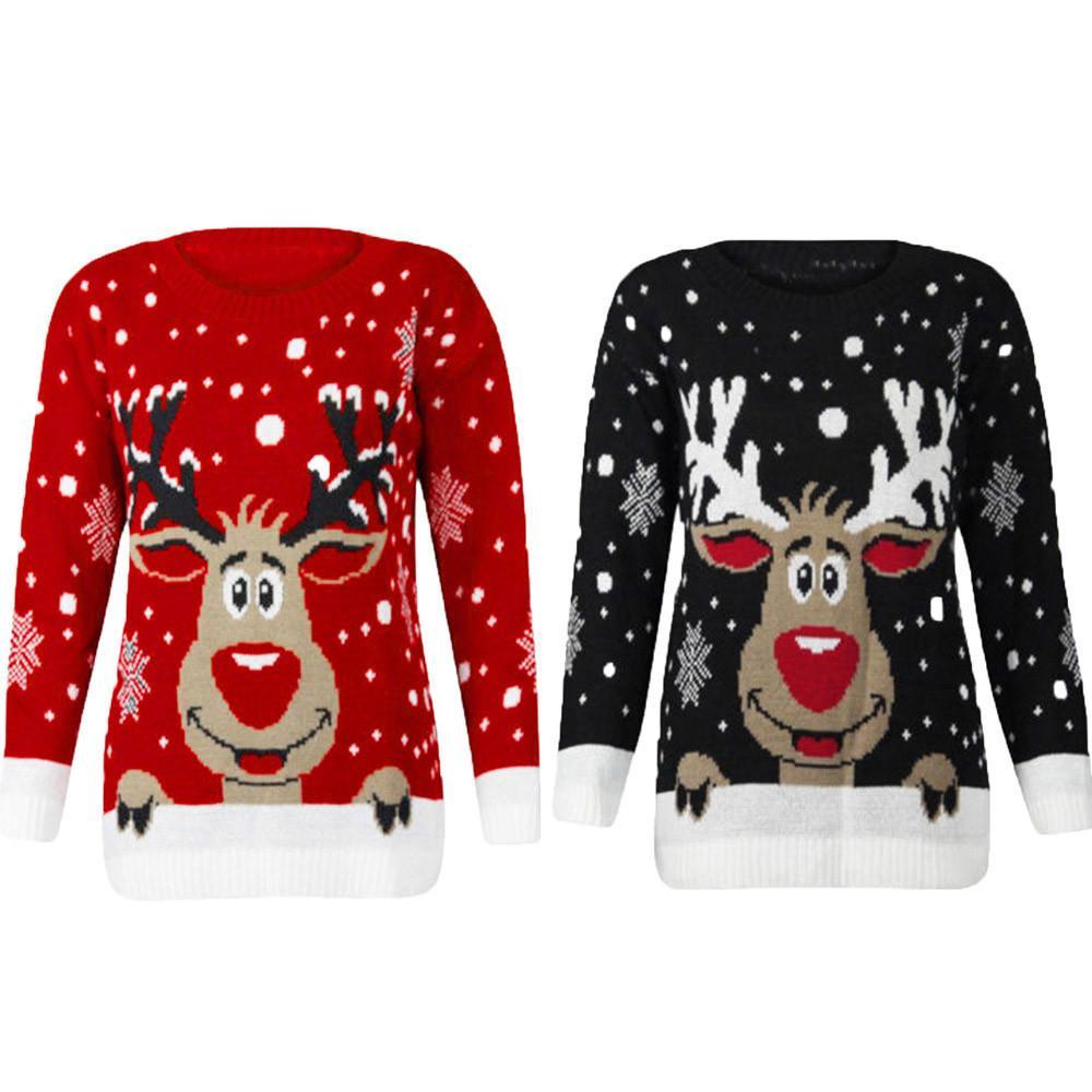 Jumper Snowman Deer New Santa Claus Xmas padronizado feio de natal suéteres para homens Pullovers Plus Size 4XL