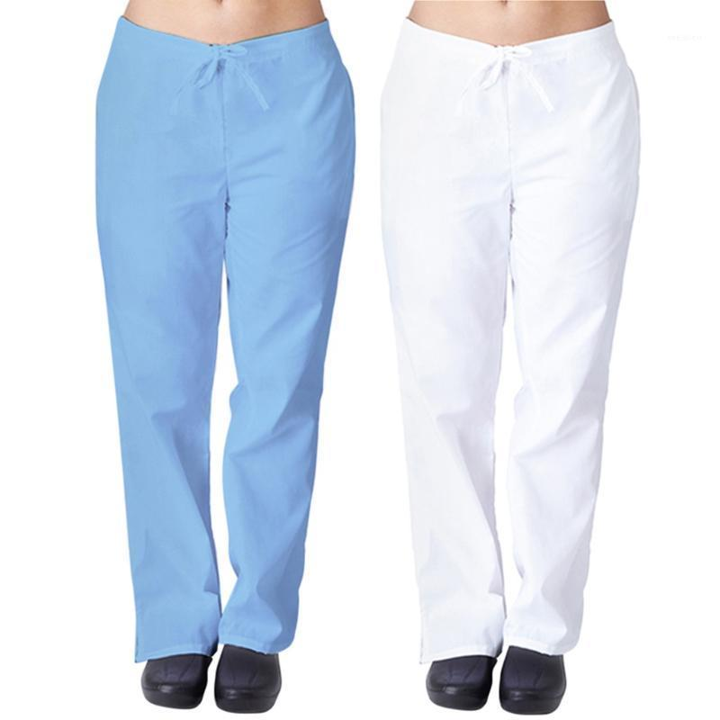 Kadın Pantolon Capris Kadın Erkek Hemşirelik Üniforma İş Pantolon Düz Tam Boy Katı Renk Doğal Flare Bacak Pep Artı Boyutu1
