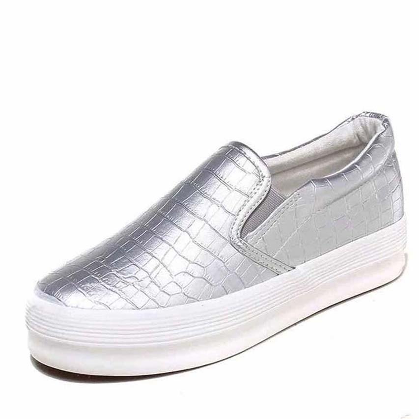 zapatos de las mujeres clásicos de las mujeres Plataforma Trainer Comfort zapato casual zapatilla de deporte Mujeres Ocio plataforma de la zapata Chaussures formadores zapatos planos P87