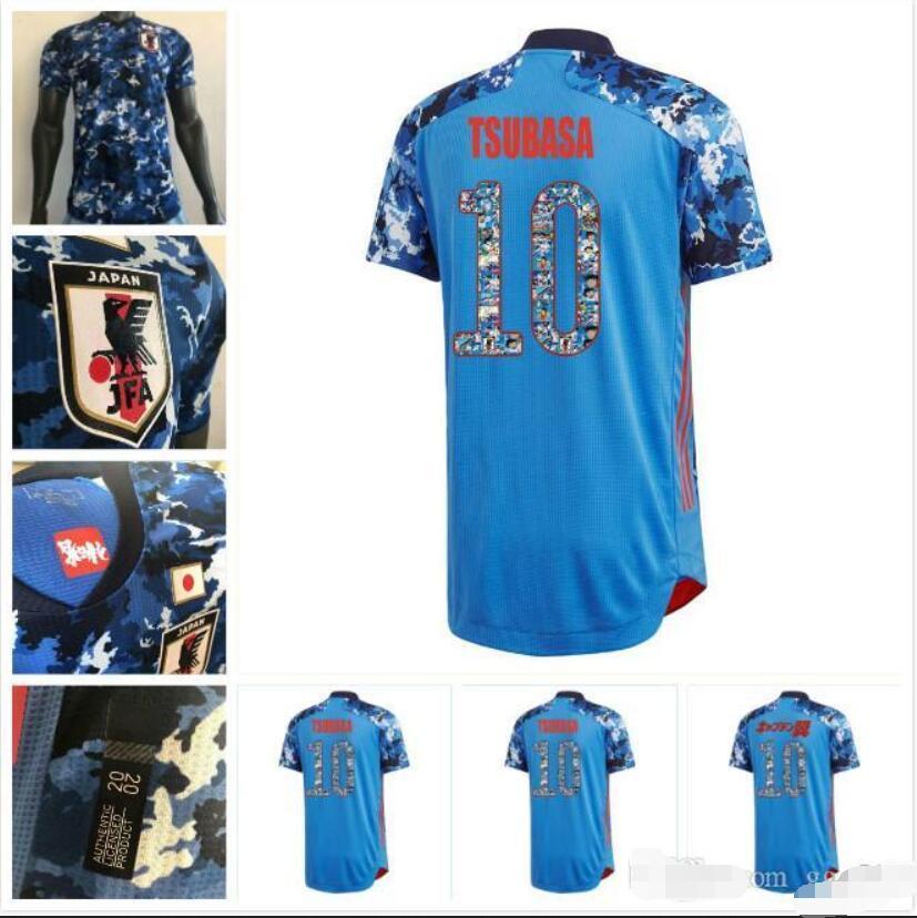 Player version 19 20 Japan Soccer jerseys 2020 TSUBASA ATOM cartoon number fonts home Football shirts top Thailand quality uniform
