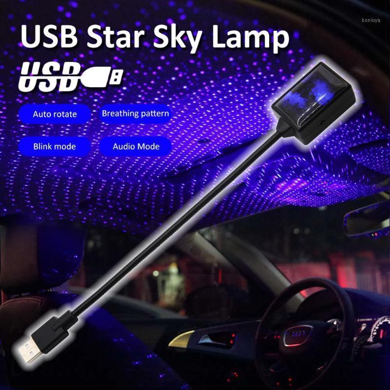 360 ° 12 V USB LED Araba Çatı Yıldız Gece Işıkları Projektör Işık İç Ortam Atmosfer Galaxy Lamba Dekorasyon Işık USB Plug1