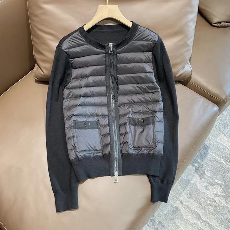 Yüksek kaliteli kadın ışık ve sıcak aşağı ceket 90% beyaz ördek aşağı dolum ve yün örgü patchwork kadınlar rahat aşağı ceketler 201222