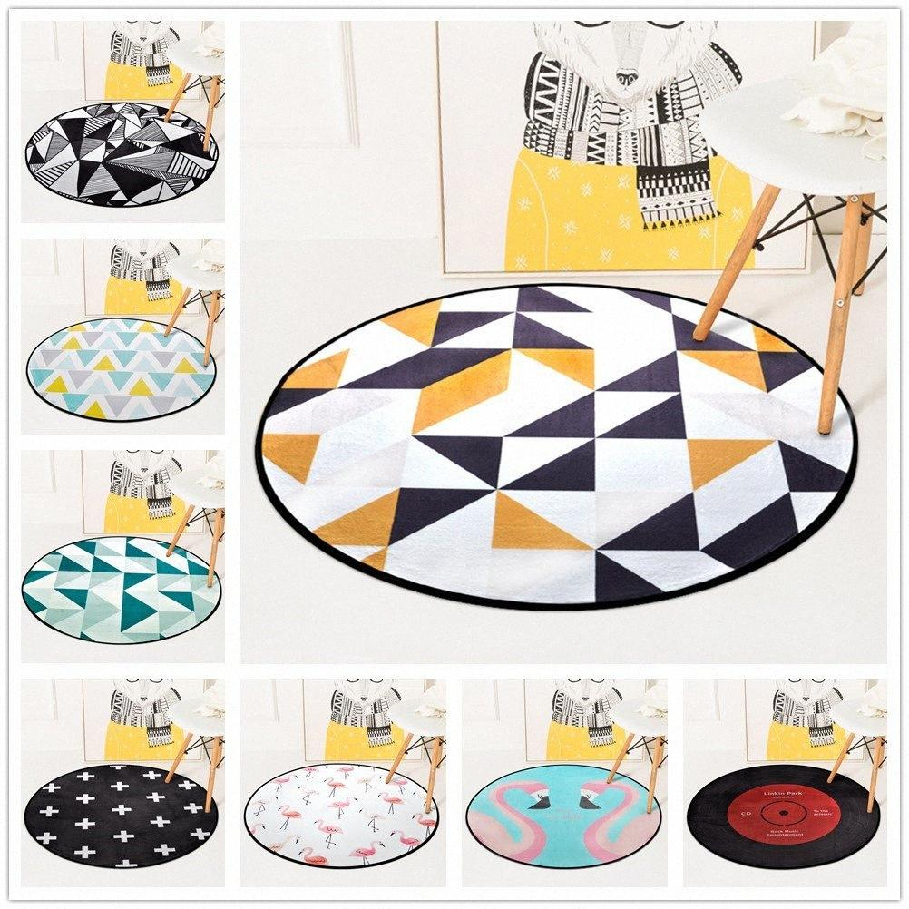 European Geometric Round Carpet For Living Room Children Bedroom Rugs And Carpets Computer Chair Floor Mat Cloakroom Carpet Aladdin Ca piw5#