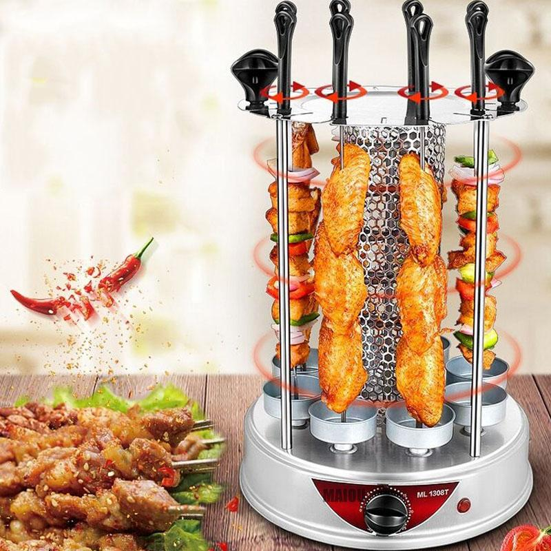Factory direct salesElectric oven home smokeless BBQ grill automatic rotating barbecue skewer grilled kebab machine barbecue cup