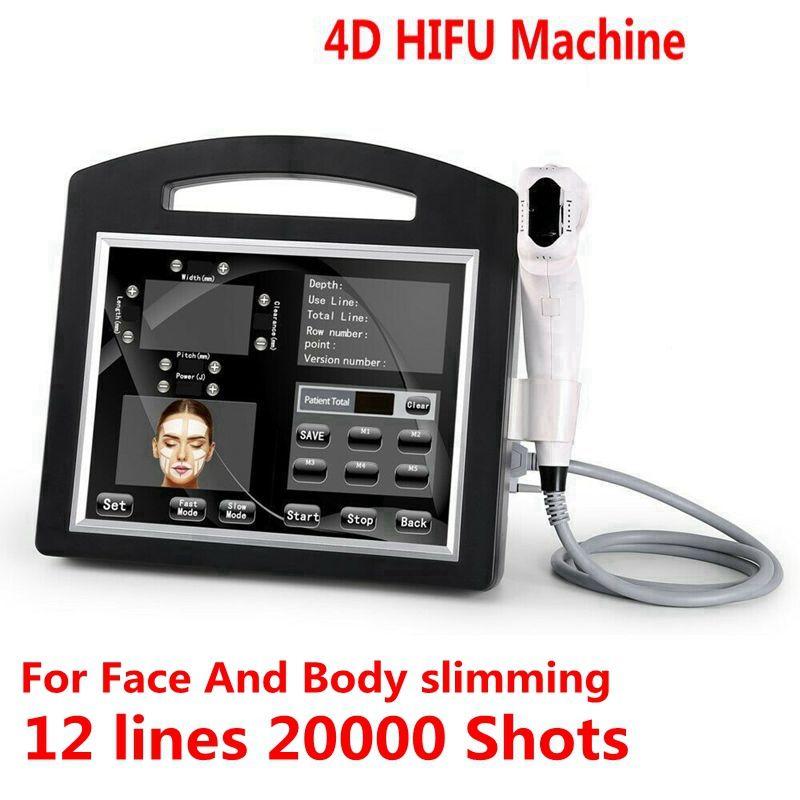 professionelle 3D-4D HIFU 12 Zeilen 20000 Schüsse High Intensity Focused Ultrasound Hifu Face Lift Maschine Faltenentfernung Für Gesicht Körper Abnehmen