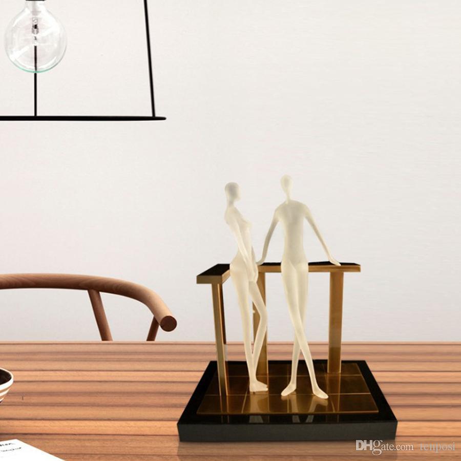Высокое качество Мода Свет Экстравагантность Спальня Parlor сени Villa Hotel Resin Металл Мрамор Современный орнамент Art