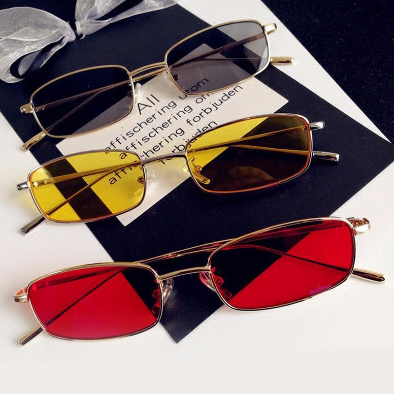 parti integrate, piccoli specchi, cristalli rettangolari di colore metallo ultravioletta, lente superficiale, occhiali da sole, vetri degli uomini