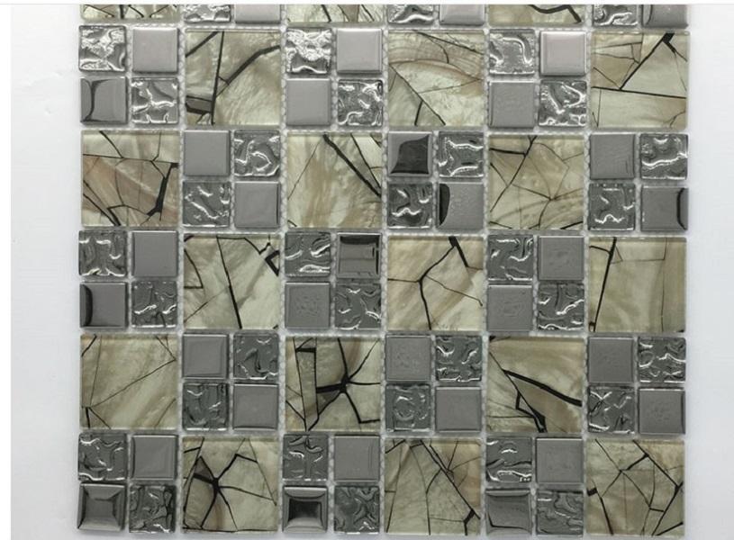 2021 venda quente decoração da parede bar Mosaico de vidro balcão hotel de fundo da parede de fundo de mosaico mosaico 300 * 300 milímetros Tiles Flooring