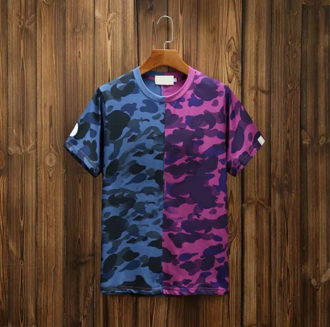 Homens Verão Camiseta Camuflagem Estilo Camuflagem Manga Curta Macho Estendido Roupas Casuais Homem Imprimir Tees Venda Na Moda T-shirt Forma Quick Dry Top