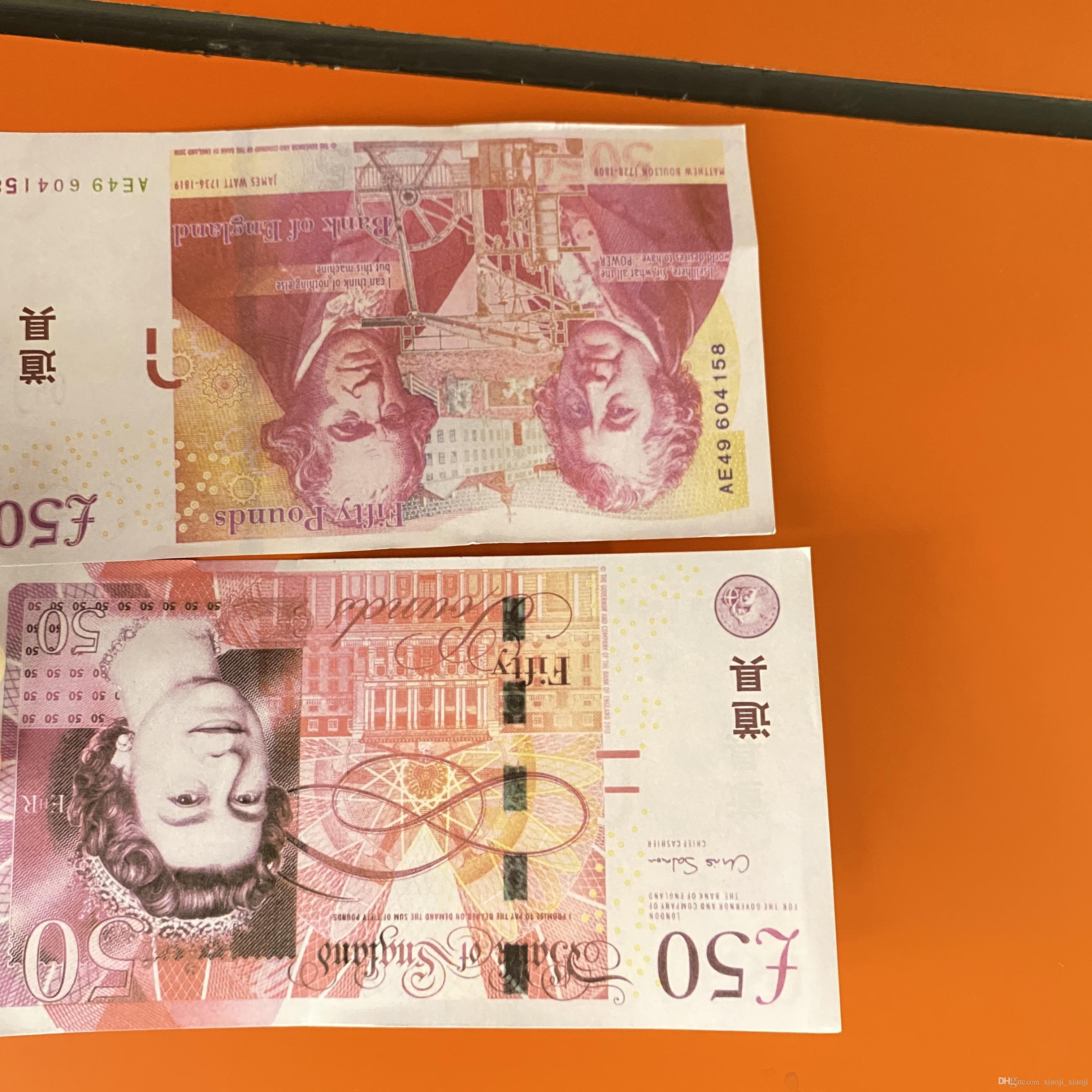 Bambini Prop o BankNote Paper Stati Uniti Copy Game Toy281 100pcs / pack Famiglia più / Euro / Dollaro denaro realistico Ehjto