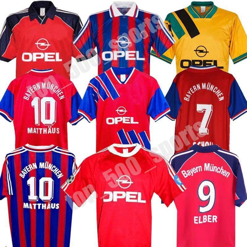 94 95 96 Retro Soccer Jersey 00 01 02 Elber Elber Zickle Efberg Elber Pizarro Scholl Matthaus Klinsmann كرة القدم القمصان 1995 2001
