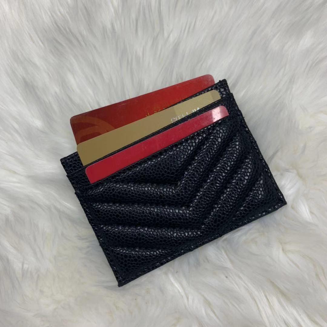 Luxurys Designer Taschen 2021 Carteras de Marca Lujo Frau Card Black Dise? Ador Handtasche Herren Mode Halter Damen Desig Husji