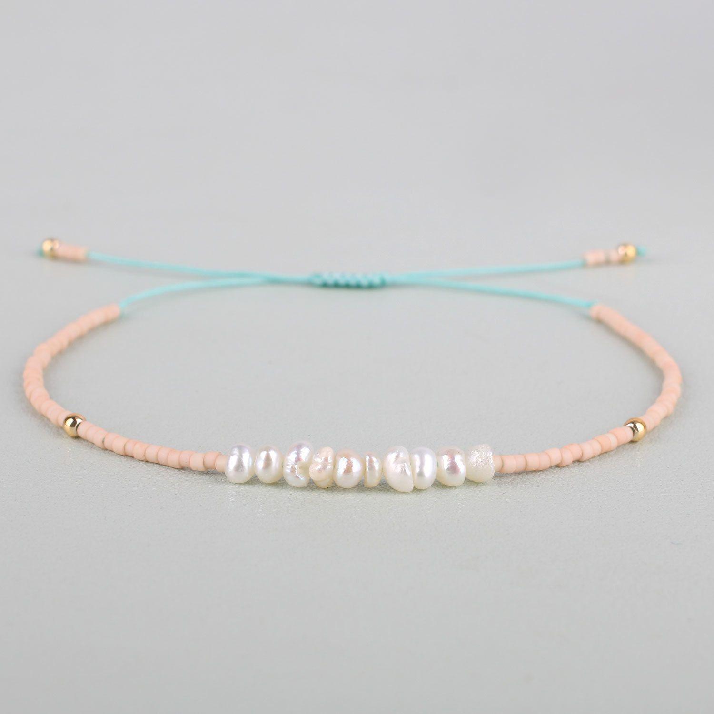 KELITCH Shell Pearl Friendship Bracelet Handmade Braided Seed Beaded Strand Bracelet Nice Women Gift Y200918