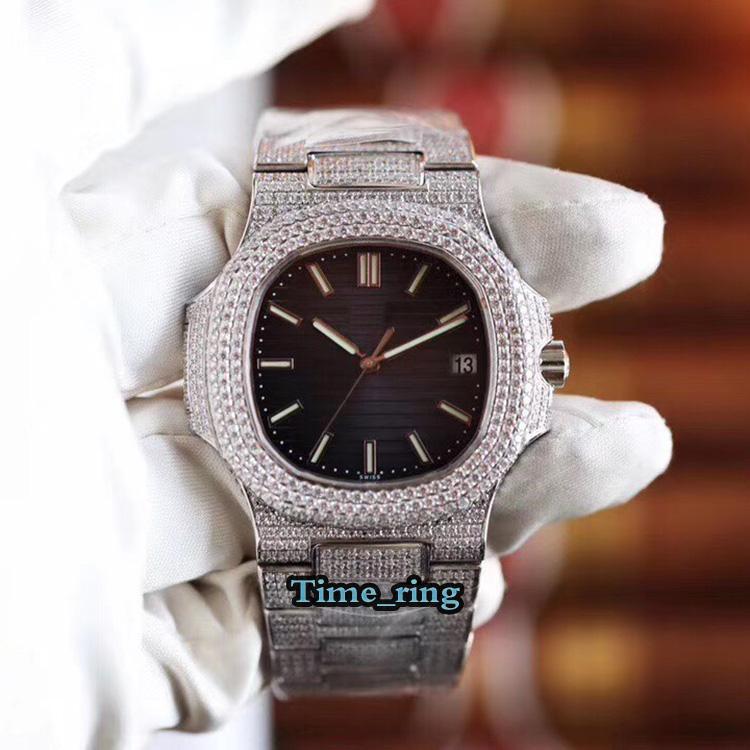 R8 Top version 5711 / 1R-001 Blue Date Date d'argent Cas d'argent 9015 modifié CAI.324 S C Mouvement mécanique automatique Mouvement de diamant