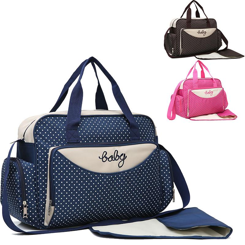 5pcs set Diaper One Shoulder bag Women Travel Handbag for Baby Nursing Mummy Maternity Nappy luiertas Q1230