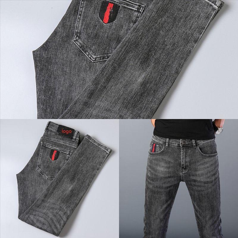 5VEFK High Street Designer Fashion Mens Jeans Vintage Straight Luxury Fit Destruido Punk Straight Pierda Jeans para Jeans Hop Homme Hombre