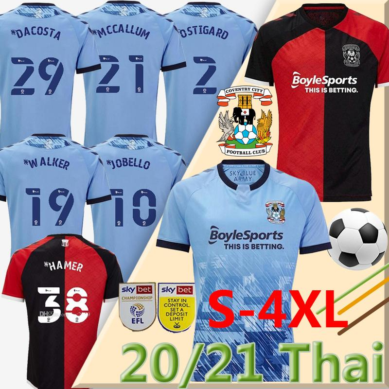 S-4XL 2020 21 Coventry City Soccer Jerseys Godden Ostigard Jobello Walker McCallum Da Costa Hamer Home Blue Football Shirts Thailand