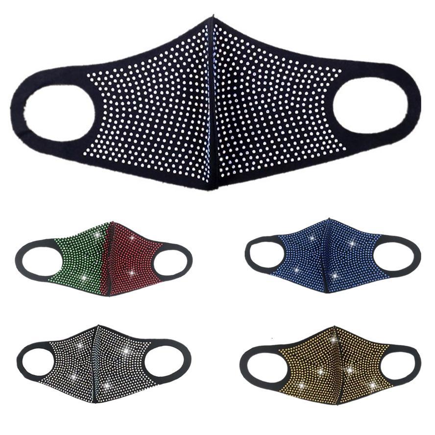 Флэш-дизайнеры Мастер маски Звезда и женские трансграничные лица партии Персонализированные маски мужские маски ночной клуб Diamond горный хрусталь Fashi Elan