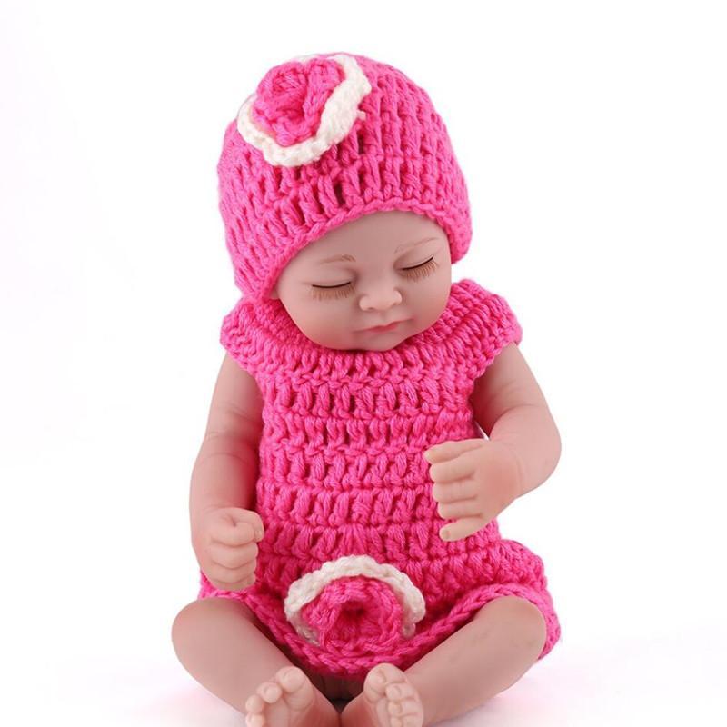 28cm pleine silicone Réincarné Nuisettes main Lifelike petits réalistes bébés reborn enfants Sleeping fille Bathe Jouets anniversaire cadeau