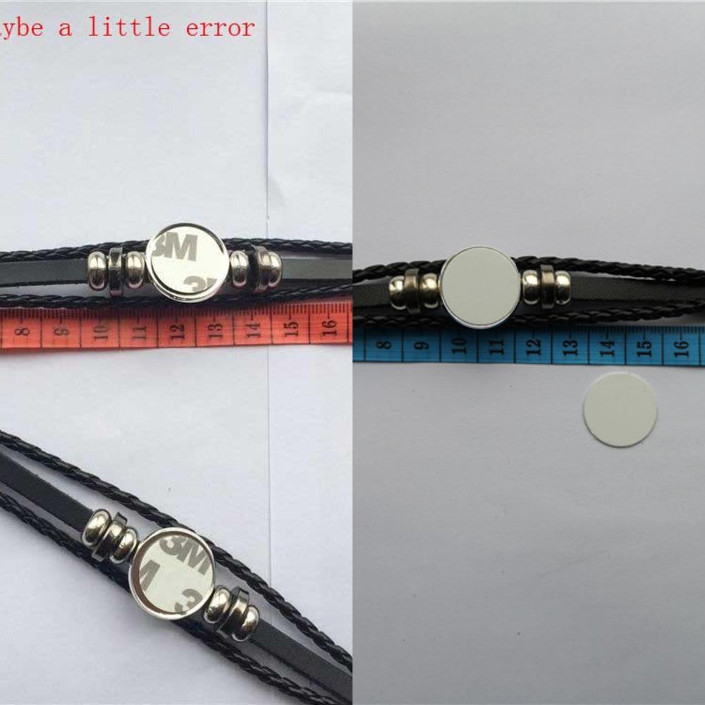 Rindsleder Armbänder für Sublimation schwarz gestricktes Armband für Thermotransferdruck benutzerdefinierte Schmuck Großhandel 10pcs / lot y1130