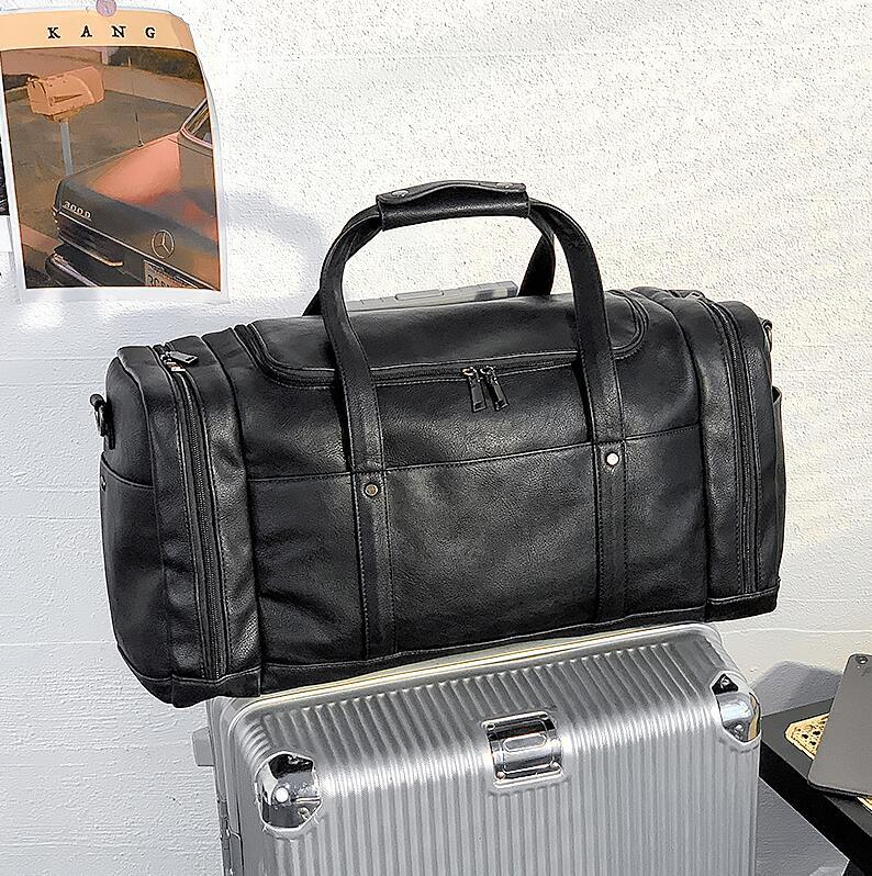 men handbag outdoor sports fitness leisure handbags large multifunctional leather fashion travel bag wet and dry leather fitness bag