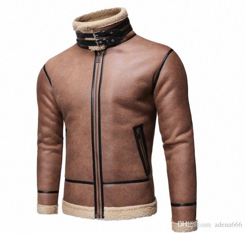La camiseta para hombre de la moda de lana chaqueta del diseñador piel de una sola capa con capucha de lujo al aire libre otoño invierno Deportes de la cremallera hombres rompevientos Ropa I9Ip C #