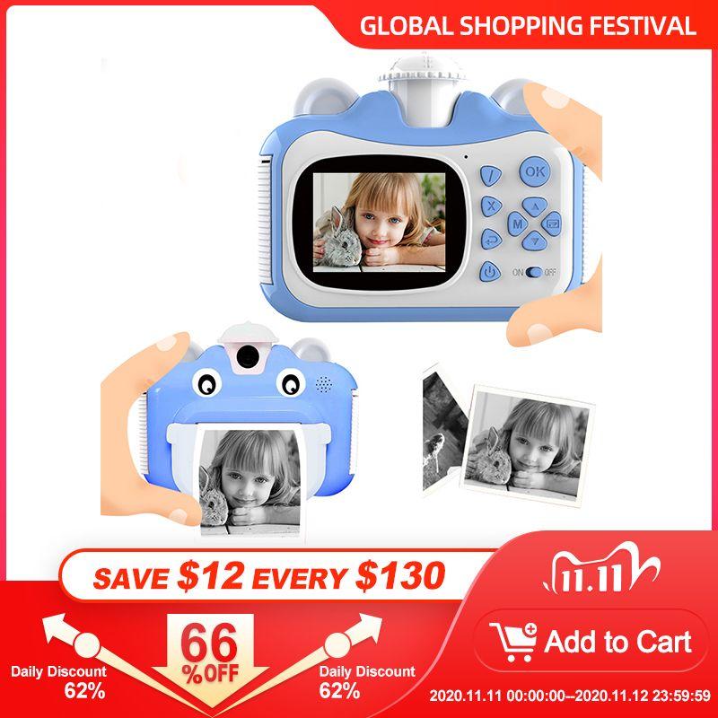 Pickwoo Kid Juguete Mini Digital Cámara linda para niños Bebé Juguetes para niños Foto instantánea de impresión Cámara de cumpleaños para niñas Boys LJ201105